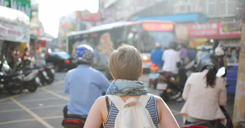 Woman Traveling Overseas